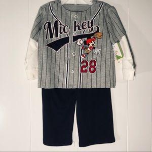 Disney's Mickey Mouse 2 Piece Set Shirt & Sweats